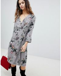 Soaked In Luxury - Floral Wrap Dress - Lyst