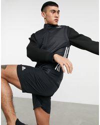 adidas Originals Черный Жилет С 3 Полосками Adidas Running-черный Цвет