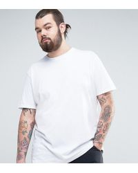 ASOS | Plus Longline T-shirt With Crew Neck | Lyst