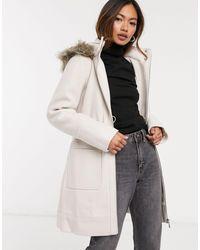 Forever New Пальто Кремового Цвета -кремовый - Многоцветный