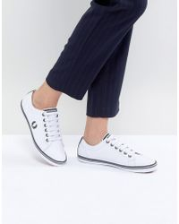 Fred Perry - Kingston Lace Up Sneaker With Tipping Detail - Lyst