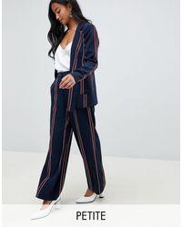 Y.A.S Petite Striped Trouser - Blue
