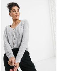Naanaa Knitted Cardigan - Grey