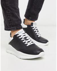 River Island Chunky sneakers negras - Negro