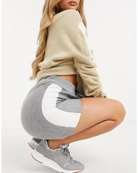 UNIQUE21 Sporty Stripe Knitted Shorts - Grey