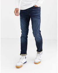 Jack & Jones Intelligence – Schmal geschnittene Jeans - Blau