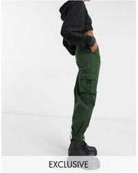 Collusion Pantaloni cargo kaki - Verde