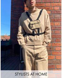 ASOS – Kleine Tasche mit Reißverschluss - Braun