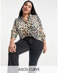 ASOS Asos Design Curve Long Sleeve Soft Shirt - Black