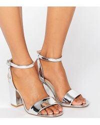ASOS - Heron Wide Fit Heeled Sandals - Lyst