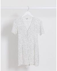 Miss Selfridge Playsuit - White
