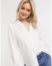 Miss Selfridge Poplin Tie Front Shirt - White