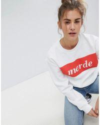 Adolescent Clothing | Merde Sweatshirt | Lyst