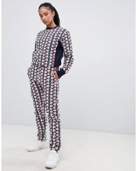 a298607b2512 Champion - Tracksuit Bottoms In All Over Print Reverse Weave Two-piece -  Lyst