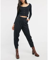 Pull&Bear Slouchy Trousers - Black