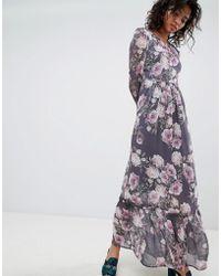 b988e9f8bc8 Ghost - Long Sleeve Printed Maxi Dress - Lyst