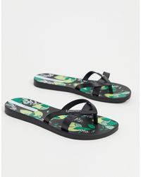 Ipanema Fruit Print Thongs-black