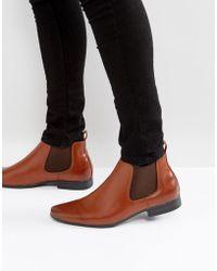 New Look - Chelsea Boot In Tan - Lyst