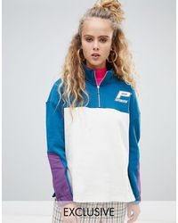 PUMA Exclusive Organic Cotton White And Green Half Zip Sweater