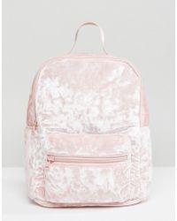 Hollister   Crushed Velvet Backpack   Lyst
