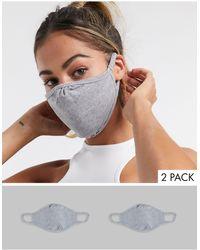 ASOS 2 Pack Face Coverings - Grey