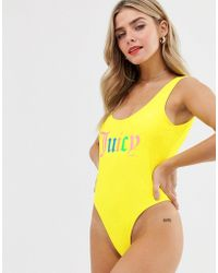 Juicy Couture - Rainbow Logo Swimsuit - Lyst