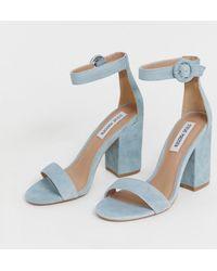 Steve Madden Suede Block Heel Sandals - Blue