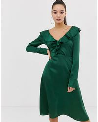 Missguided Vestido midi - Verde