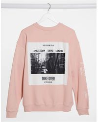 The Couture Club Sweat-shirt oversize - Rose