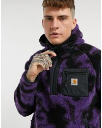 Carhartt WIP Худи Из Искусственного Меха С Камуфляжным Принтом -фиолетовый - Пурпурный