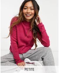 Vero Moda Розовый Джемпер С Высоким Воротником И Декоративными Швами -розовый Цвет