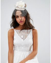 ASOS - Floral Fascinator With Bow Detail - Lyst