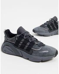adidas Originals Lxcon - Sneakers Van Antracietgrijs Suède