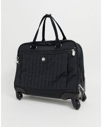Kipling Black Travel Carry On Suitcase With Silver Monkey Charm