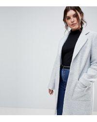ASOS - Slim Coat In Texture - Lyst