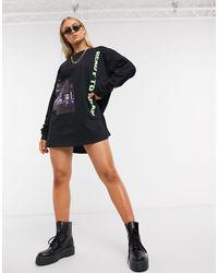 The Couture Club Vestido estilo camiseta - Negro