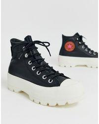 Converse Goretex - Baskets hautes de randonnée en cuir - Noir