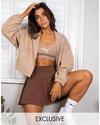 PUMA Светло-коричневая Укороченная Куртка X Stef Fit - Коричневый