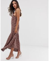 Y.A.S - Festival Ditsy Floral Cami Maxi Dress With Lace Trim - Lyst