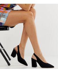 20e393311 Chaussures à talons avec bride arrière - Noir