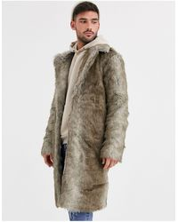 River Island Faux Fur Jacket-brown