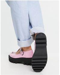 LAMODA Бледно-розовые Лакированные Туфли На Массивной Подошве С Т-образным Ремешком -розовый Цвет