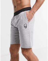 Bolongaro Trevor – Lounge-Shorts aus Jersey mit Logo - Grau