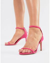 Bershka - Barely There Sandal In Pink - Lyst