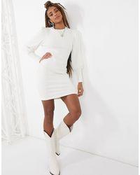 ASOS Super Soft Puff-sleeved Mini Dress - White