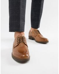 Red Tape - Elcot Lace Up Brogue Shoes In Tan - Lyst