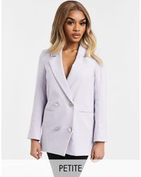 River Island - Double Breasted Co-ord Blazer - Lyst