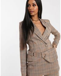 Missguided Co-ord Blazer With Bumbag - Brown