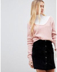 Girls On Film - Ribbed Slouchy Jumper - Lyst