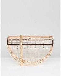 ASOS - Half Moon Cage Clutch Bag - Lyst